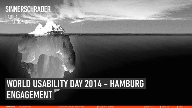 WORLD USABILITY DAY 2014 - HAMBURG  ENGAGEMENT  Client: WORLD USABILITY DAY 2014 Project: ENGAGEMENT 13.NOV.14 00001110 Sl...