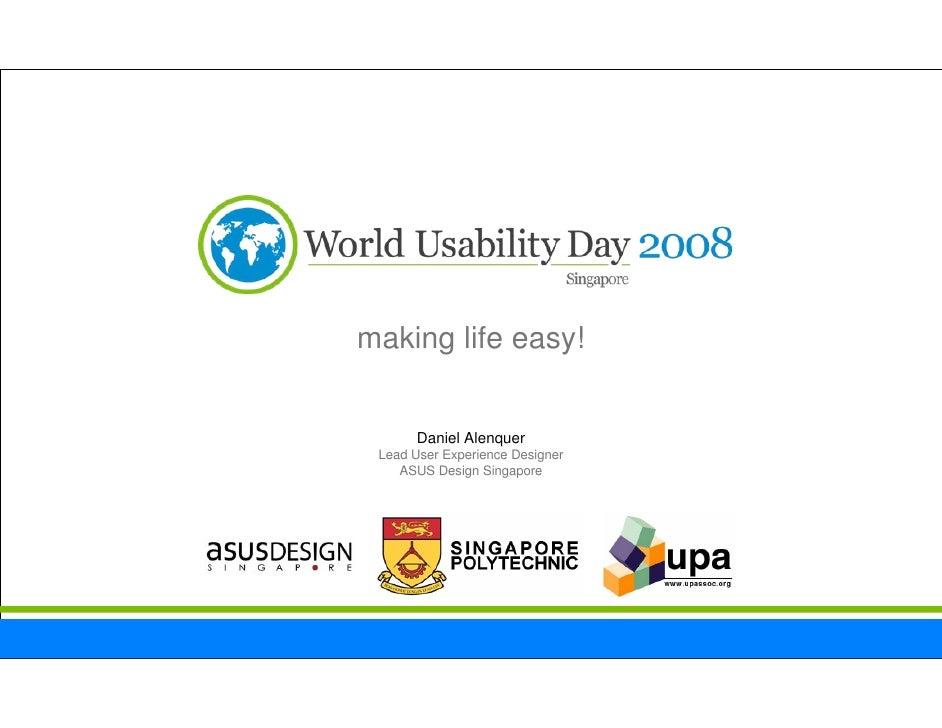 World Usability Day Singapore 2008