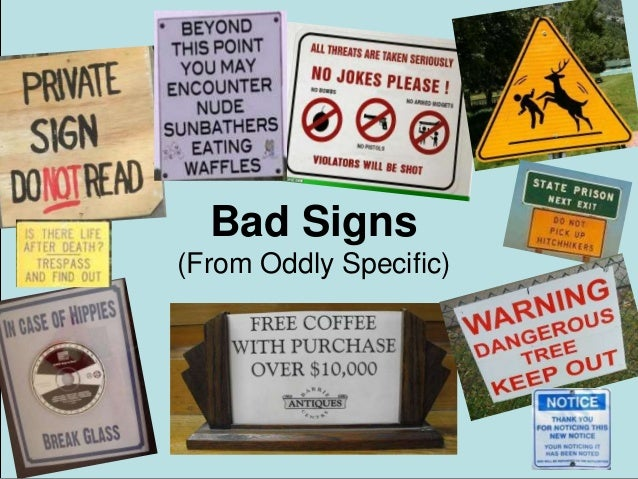 Bad Signs (From Oddly Specific)