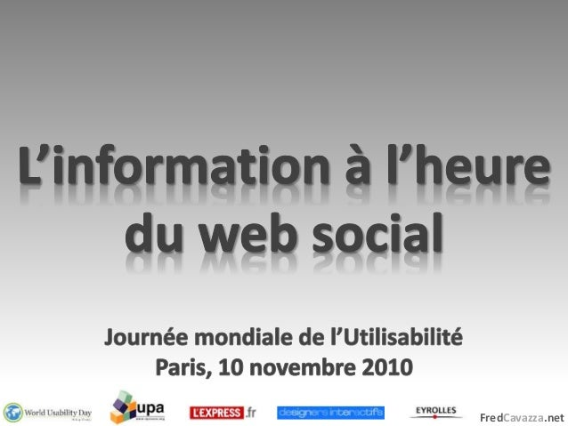 WUD 2010 Paris : L'information sociale