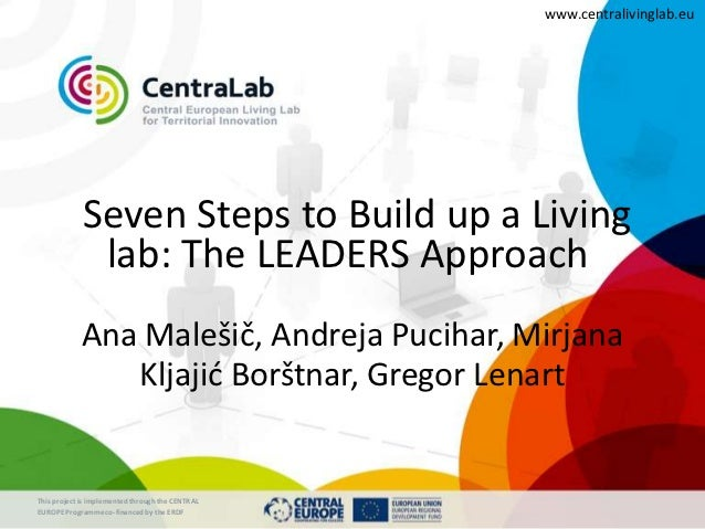 www.centralivinglab.eu             Seven Steps to Build up a Living              lab: The LEADERS Approach            Ana ...