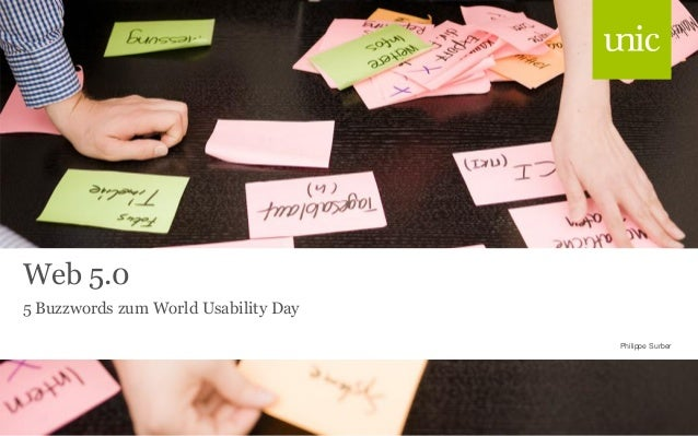 Web 5.0 5 Buzzwords zum World Usability Day Philippe Surber
