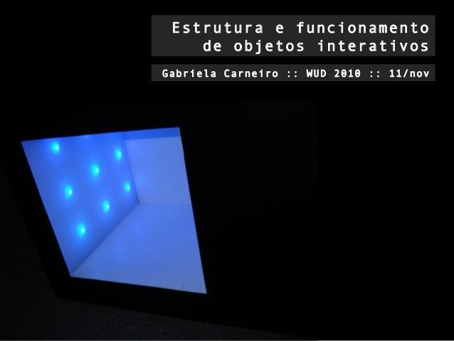 Estrutura e funcionamento de objetos interativos Gabriela Carneiro :: WUD 2010 :: 11/nov