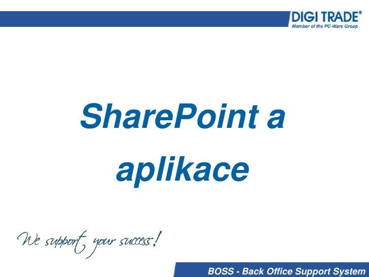 SharePoint a aplikace