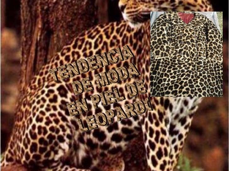 Tendencia de leopardo. En su colección para la temporada Otoño-Invierno 2010, la famosa dupla Dolce  e Gabana fue una de l...