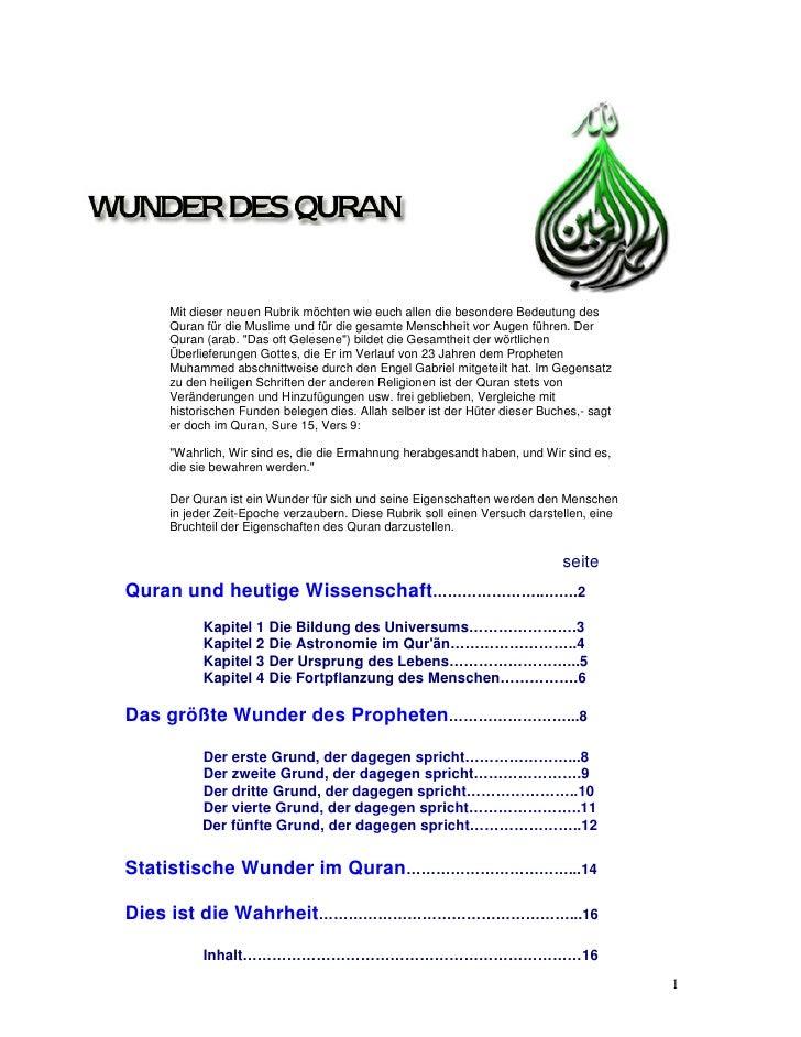 Wunder des quran [german]