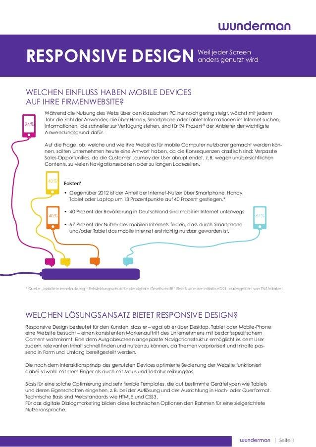 | Seite 1 Welchen Einfluss haben mobile Devices auf Ihre Firmenwebsite? Cookiesder neue Feind der Nutzerfreundlichkeit? Re...