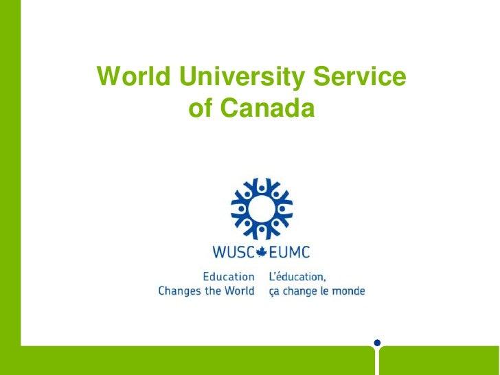 World University Service of Canada<br />