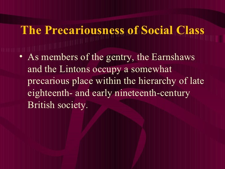 wuthering heights social class essay Open document below is an essay on social class: wuthering heights and the victorian from anti essays, your source for research papers, essays.
