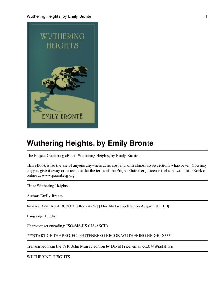 Wuthering Heights Childhood Thesis
