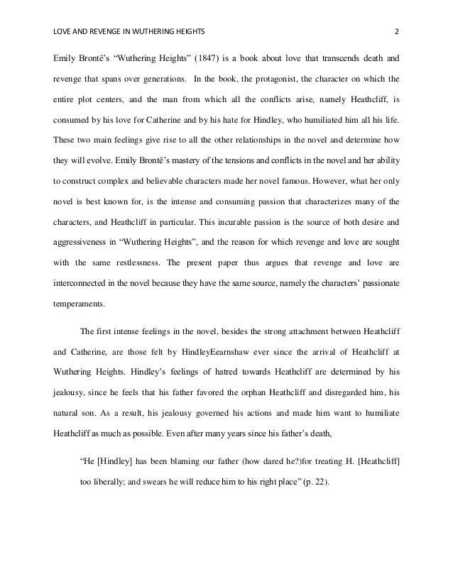 Wuthering heights research paper my admissionsessay