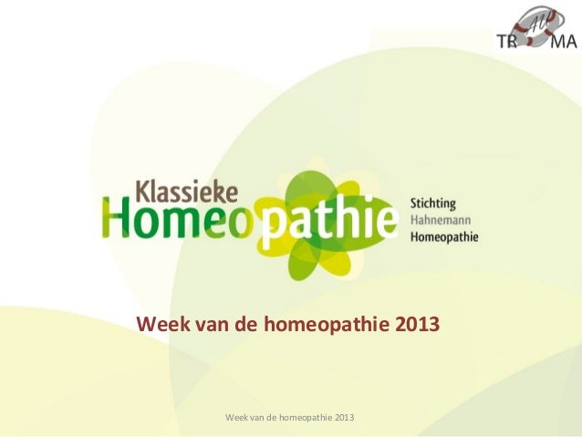 Week van de homeopathie 2013        Week van de homeopathie 2013