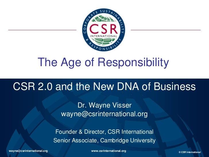 Presentatie Wayne Visser DEF