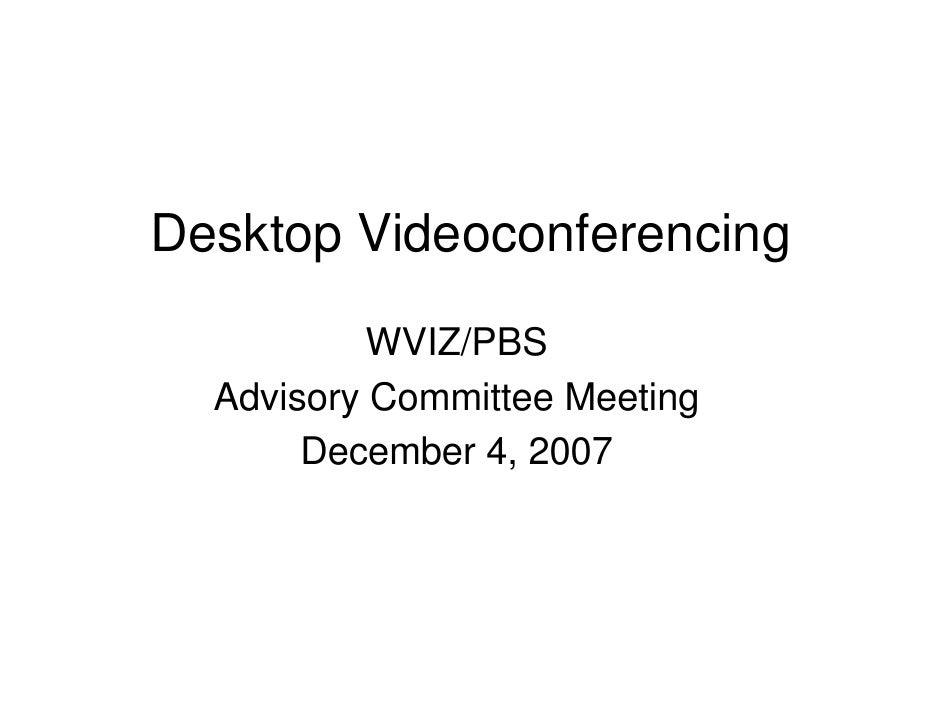 WVIZ Desktop Videoconferencing 03