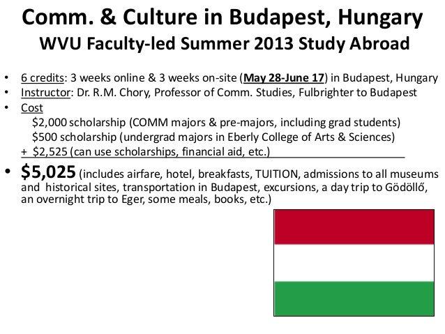 WVU COMM Studies 2013 Study Abroad: Budapest, Hungary