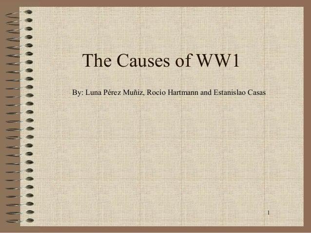 1The Causes of WW1By: Luna Pérez Muñiz, Rocío Hartmann and Estanislao Casas