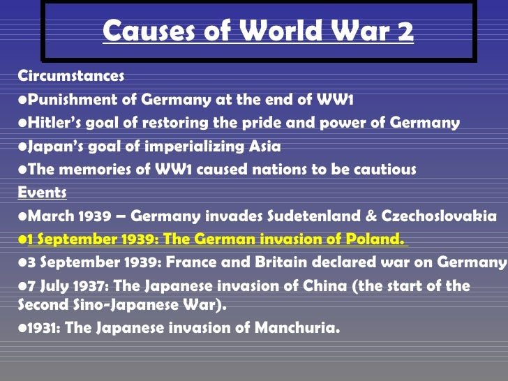 causes of ww2 essay outline