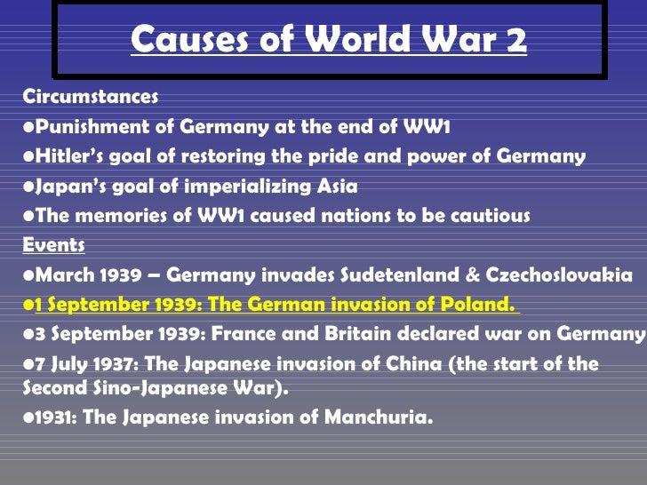 why did world war 2 start essay