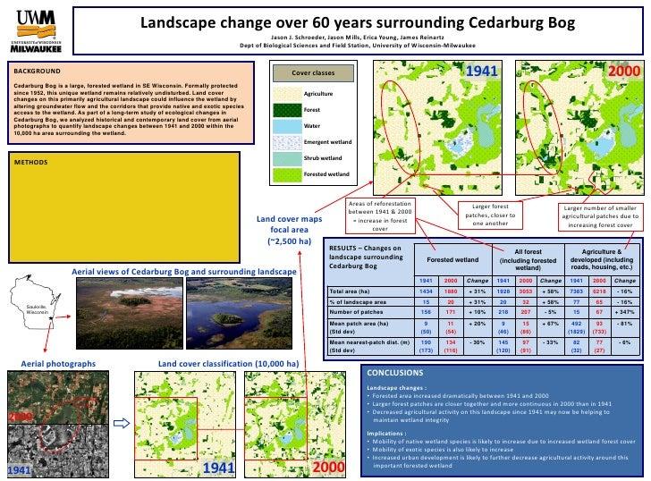 Landscape change over 60 years surrounding Cedarburg BogJason J. Schroeder, Jason Mills, Erica Young, James ReinartzDept o...