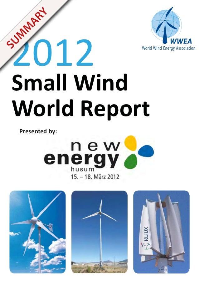 Y   AR 2012  M   MSU Small Wind World Report   Presented by:
