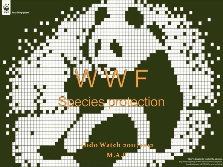 WWF Species protection