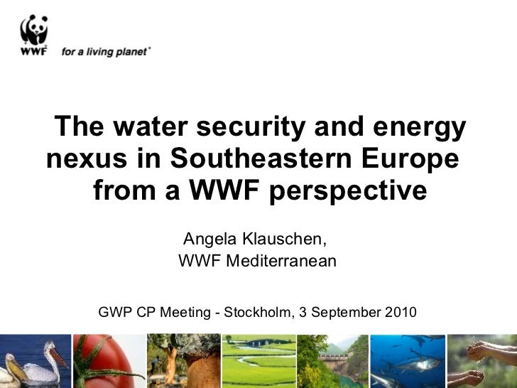 The water security and energy nexus in Southeastern Europe  from a WWF perspective Angela Klauschen,  WWF Mediterranean GW...