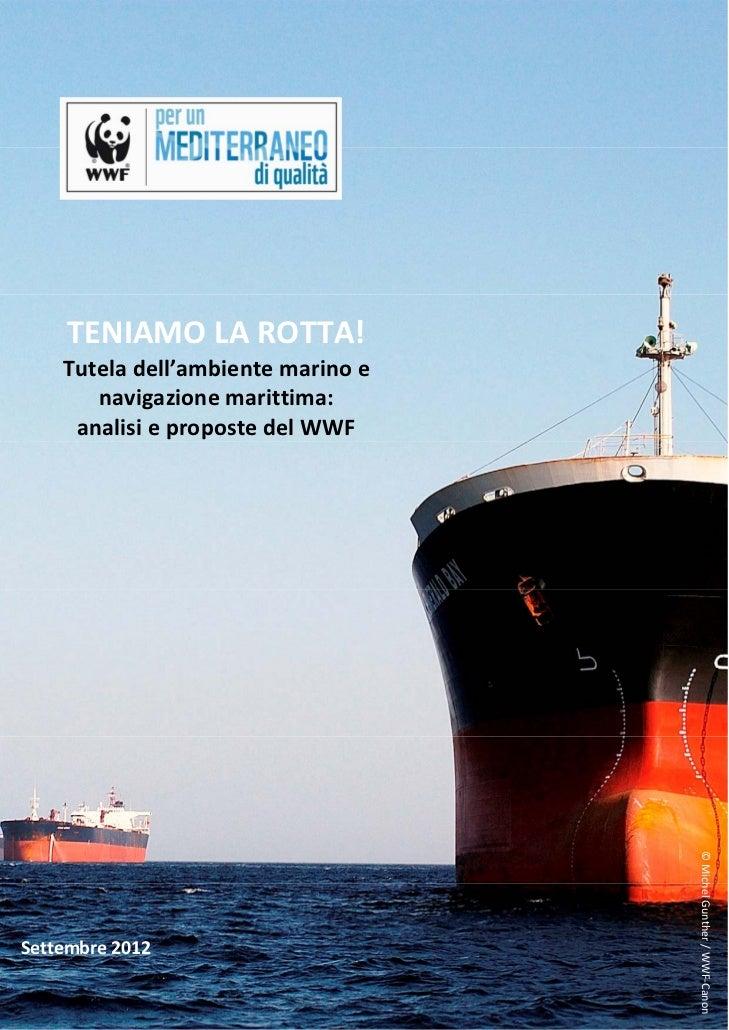 TENIAMOLAROTTA!    Tuteladell'ambientemarinoe       navigazionemarittima:     analisiepropostedelWWF   ...