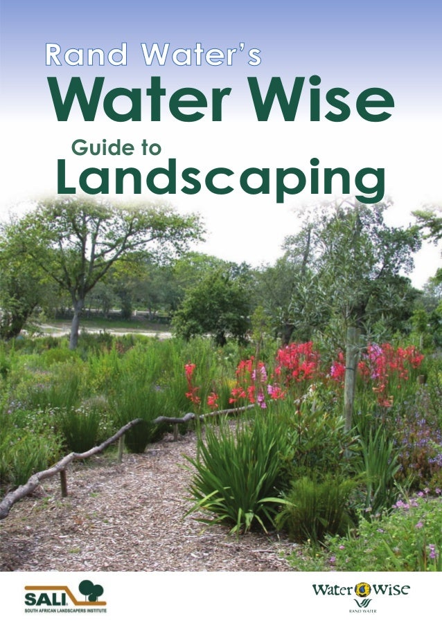 water wise guide to landscaping south africa