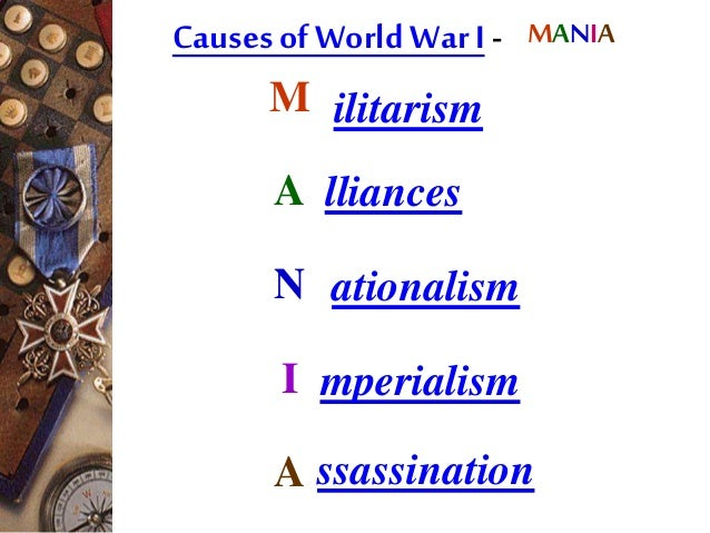 cause of world war i essay Causes of wwi essays june 28 the archduke of austria hungary was assassinated by a serbian terrorist group this was seemingly the cause of world war i.