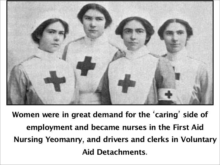 did ww1 change the status of women Tier enlistment was a reflection of the dramatic changes in the status of women  wrought by the entry of the united states into world war i the nation was.