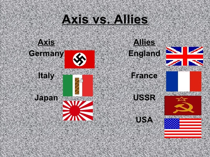wwii allies axis powers Axis powers definition at dictionarycom, a free online dictionary with  germany,  italy, and japan, which were allied before and during world war ii (compare.