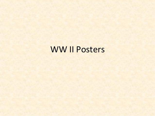 WW II Posters