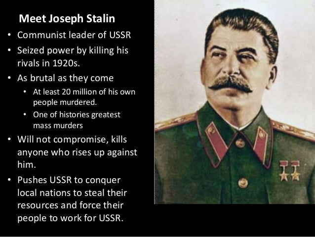 the three reasons why joseph stalin became the leader of the ussr How did stalin become supreme leader of the soviet union keen to strenghen ussr of the soviet union instead of joseph stalin 10 points for.