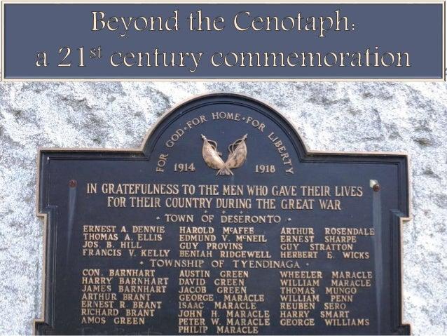 Beyond the Cenotaph: a 21st century commemoration