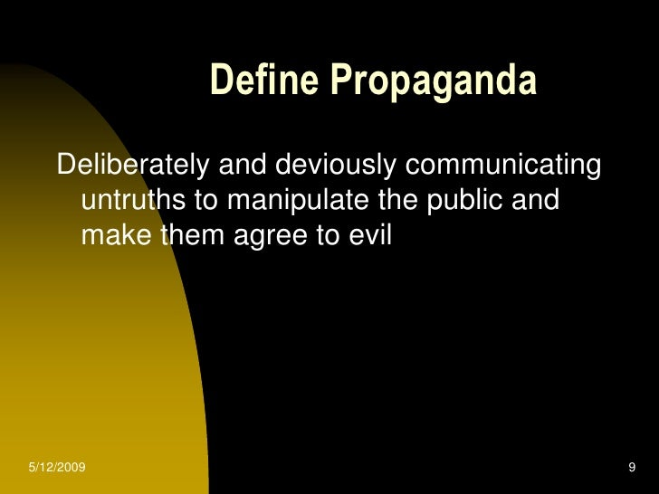 definition of propaganda