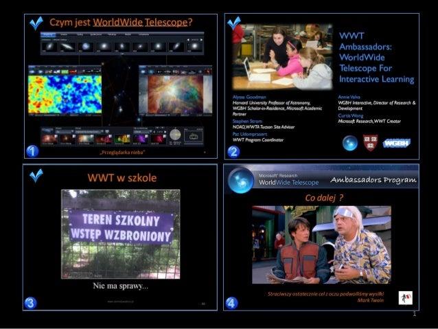 Edukacja z WorldWide Telescope cz. 4