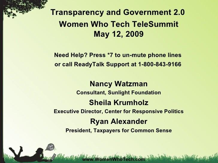 Transparency Gov 2.0