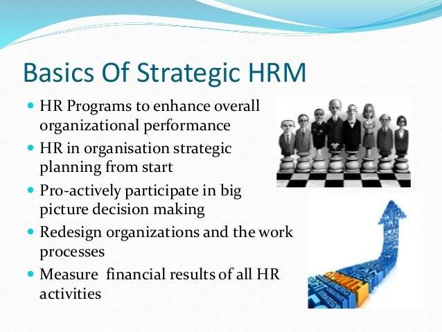 Strategic Human Resource Management Issues Essays