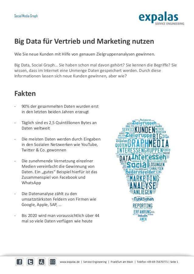 Big Data für Vertrieb und Marketing nutzen Wie Sie neue Kunden mit Hilfe von genauen Zielgruppenanalysen gewinnen. Big Dat...