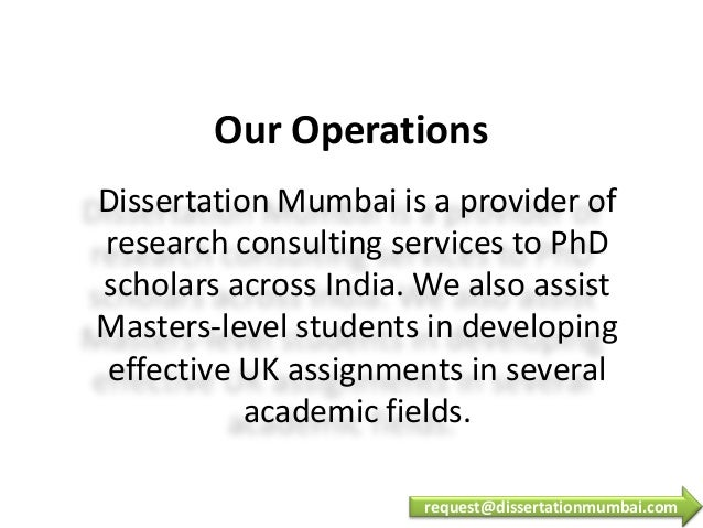 dissertation help in mumbai Disclaimer: this dissertation has been submitted by a student this is not an  example of the work written by our professional dissertation writers you can view .