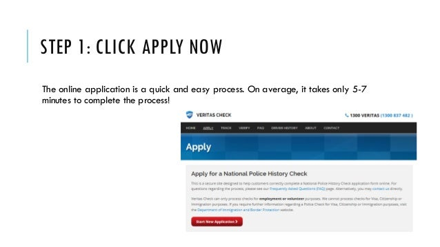 how to apply police check online