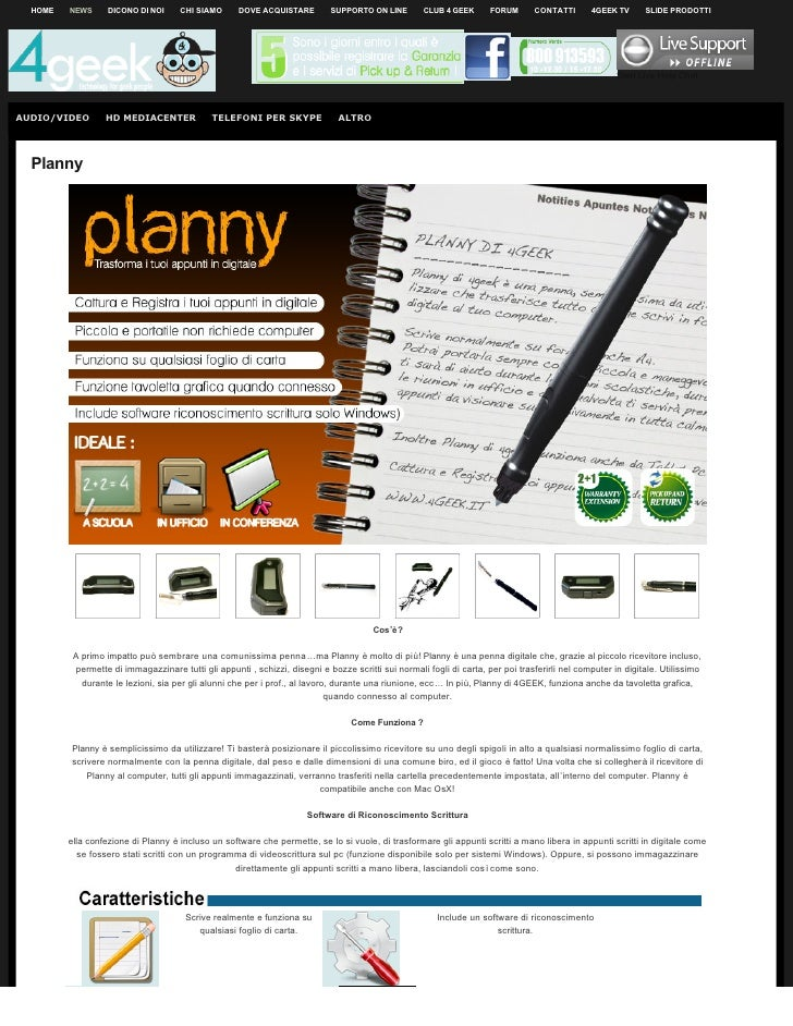 Penna Intelligente Digitale Planny 4Geek PN-001