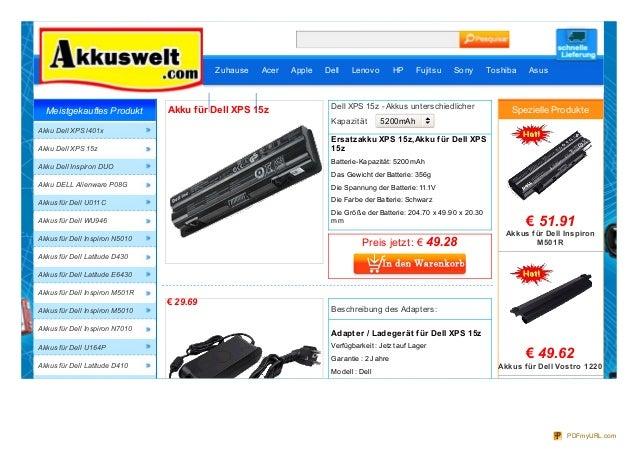 Akku XPS 15z,5200mAh/7200mAh,DELL 15z Laptop Adapter