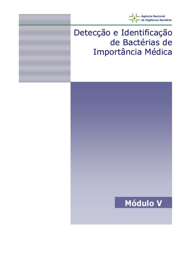 Detecção e Identificação        de Bactérias de    Importância Médica            Módulo V