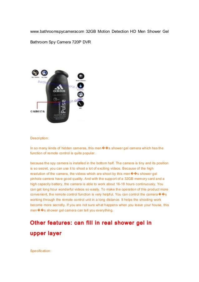 Www.bathroomspycameracom 32 gb motion detection hd men shower gel bathroom spy camera 720p dvr