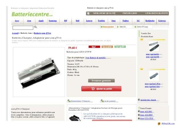Batteries et chargeurs/ adaptateur Ordinateur Portable                                                 Batterie et chargeu...