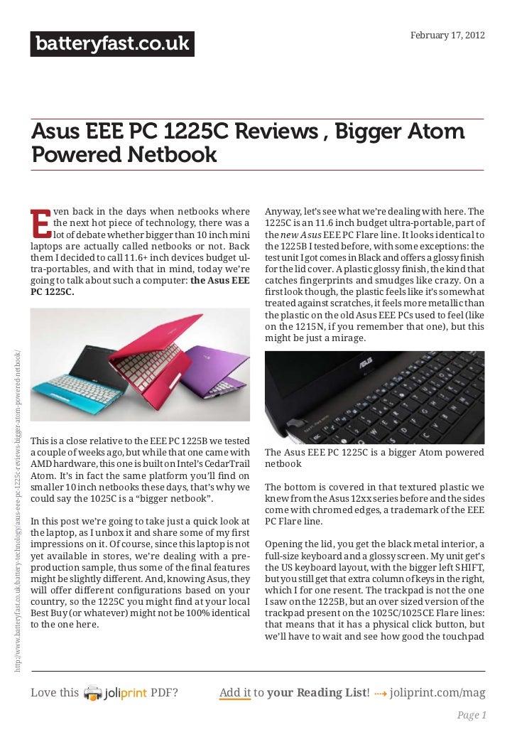 Www.batteryfast.co.uk asus-eee-pc-1225c-reviews-bigger-atom-powered-netbook