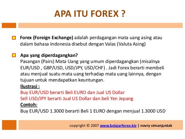 Video tutorial belajar forex