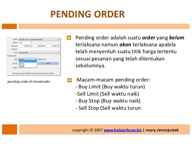 Belajar forex buy limit