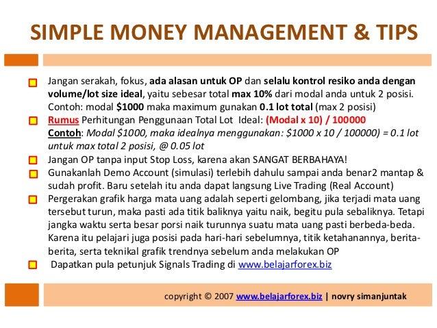 Rumus money management forex